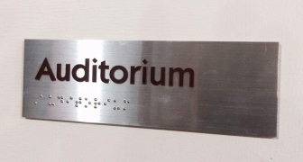 Brushed Aluminum ADA Signs