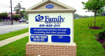 Family Service-Monument Sign
