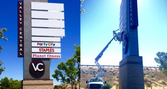 Planet Fitness pylon sign in Lancaster Ca