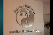Brushed Aluminum sign Force balance
