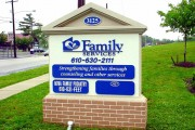 Family Services  Monument Sign