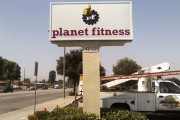 Planet Fitness Pole sign