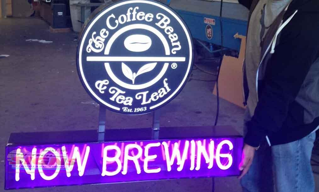 coffee bean neon signs - neon sign