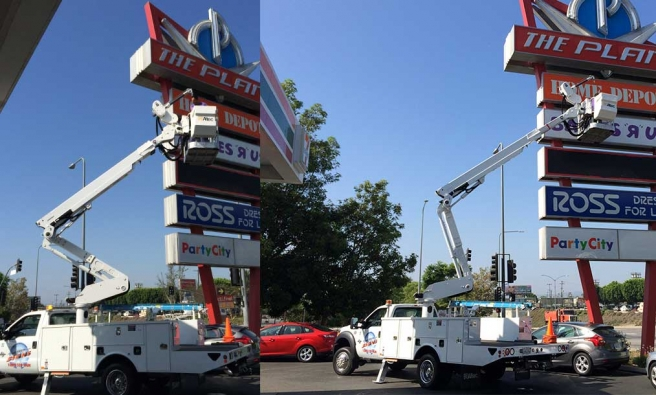 Pole Sign Project In Van Nuys California