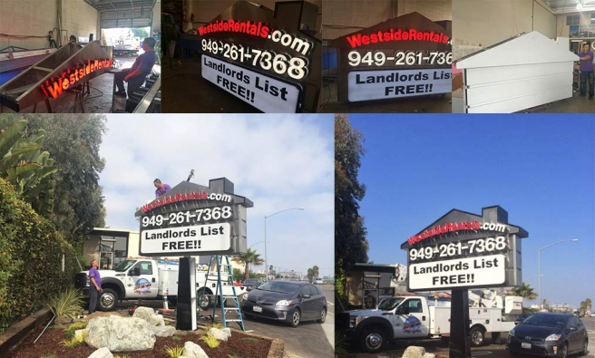 New Pole Sign For Westside Rentals
